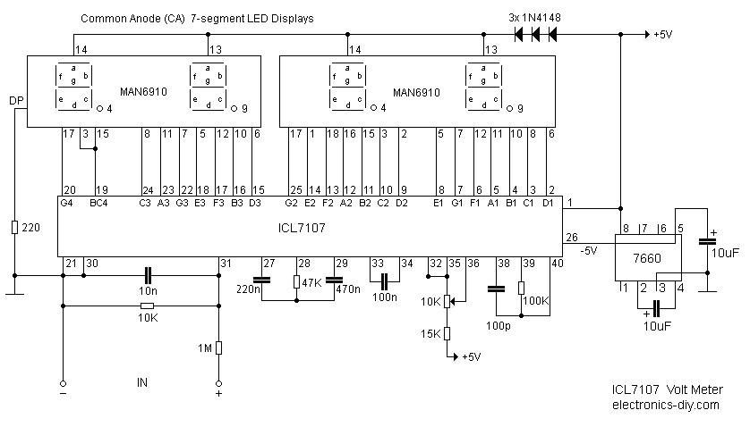 icl7107  u0130le yap u0131lm u0131 u015f elektronik devreler